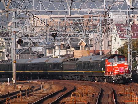 DD51+24系 トワイライトエクスプレス団臨 東海道本線さくら夙川駅2