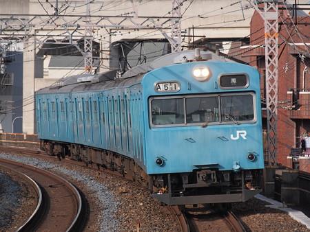 103系4連 普通 阪和線美章園駅