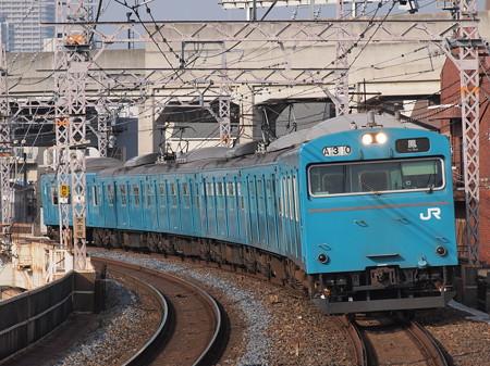 103系6連高運転台 普通 阪和線美章園駅
