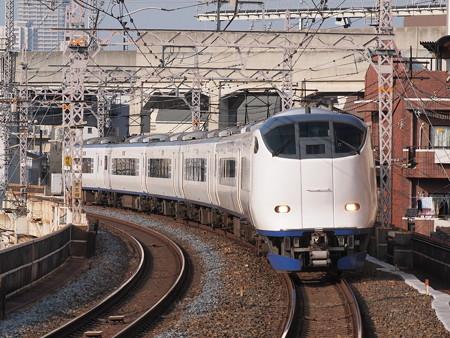 281系特急はるか 阪和線美章園駅