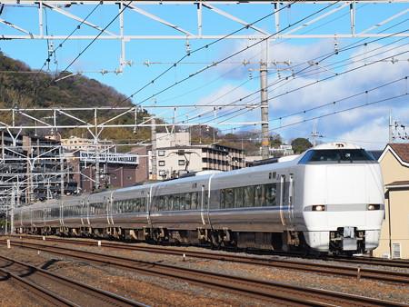 683系特急サンダーバード 東海道本線山崎~島本