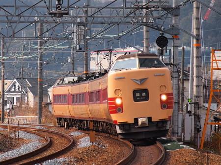 381系回送 東海道本線サントリーカーブ