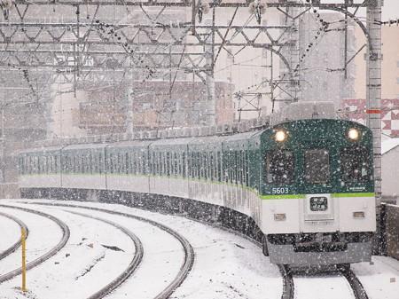 京阪5000系普通 京阪本線西三荘駅