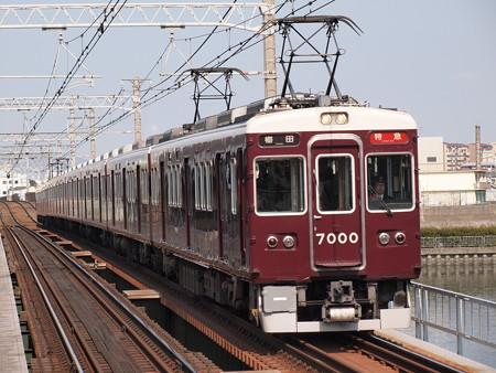 阪急7000系特急 阪急神戸線神崎川駅