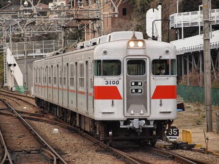 山陽電鉄3000系ステンレス車 普通山陽須磨駅