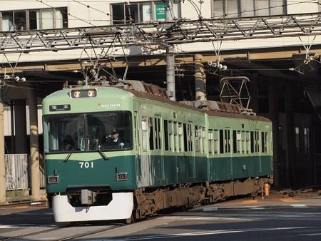 京阪700形 京阪石山坂本線浜大津~三井寺3