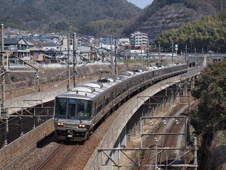 223系新快速 湖西線大津京~山科