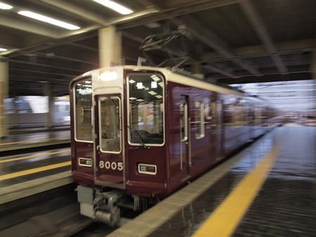 阪急8000系普通 流し 阪急宝塚線梅田駅