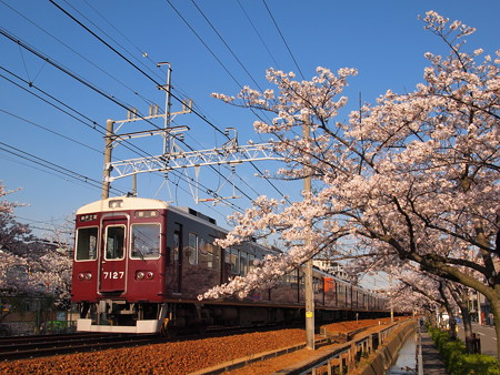 阪急7000系普通 阪急神戸線塚口~武庫之荘2