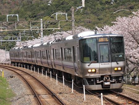 223系 紀州路快速 阪和線山中渓駅アウトカーブ