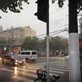 Photos: 上海8月20日 夕立の交差点