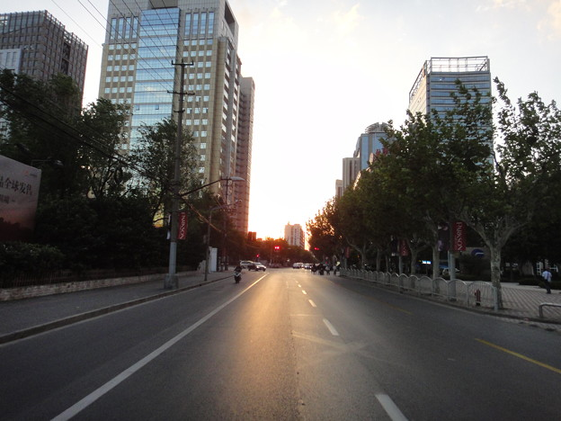 仙霞路の夕焼け