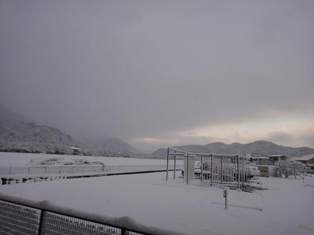 老家 雪景色の朝 1-10