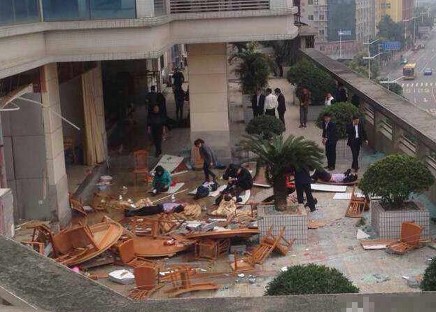 東莞 中国石油レストラン爆発事故 (1)
