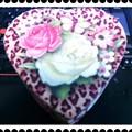 写真: 薔薇のハートBox