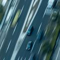 Photos: 上空からの流し撮り