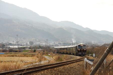 耳納連山とななつ星in九州 2014/01/14