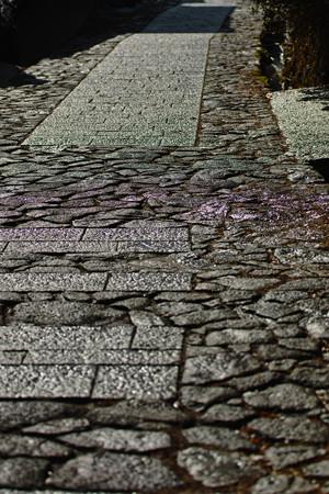 馬篭の石畳