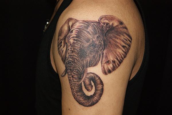 象のタトゥー