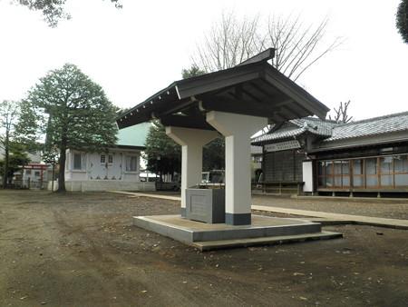 祖師谷神明社-02手水舎・拝殿