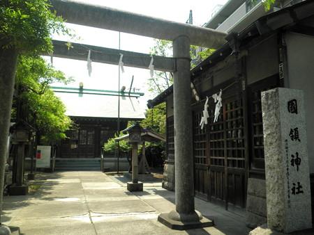 国領神社-01鳥居と拝殿