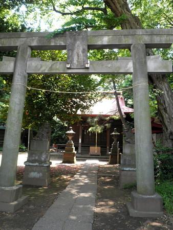 虎狛神社(佐須)-01鳥居と拝殿