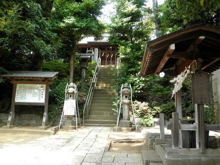 糟嶺神社(入間町)-02参道・手水舎・拝殿