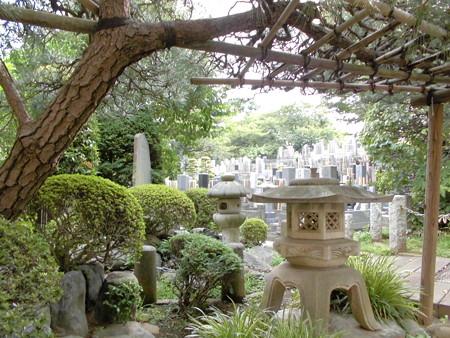 観蔵院-06石灯籠と墓地