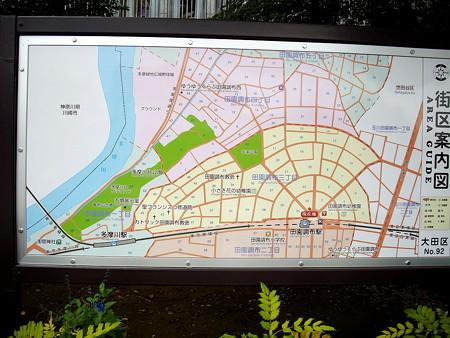 田園調布駅界隈-02街区案内図_放射状に広がり延びている街区