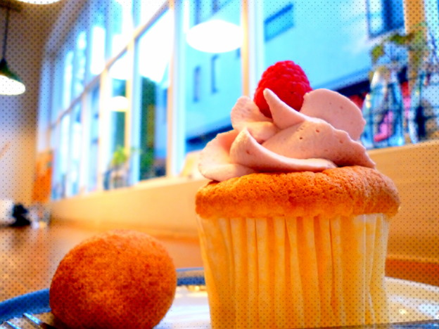 ラズベリーカップケーキ