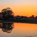 写真: 陽の出時