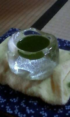 氷のお茶碗でお抹茶 氷のお茶会
