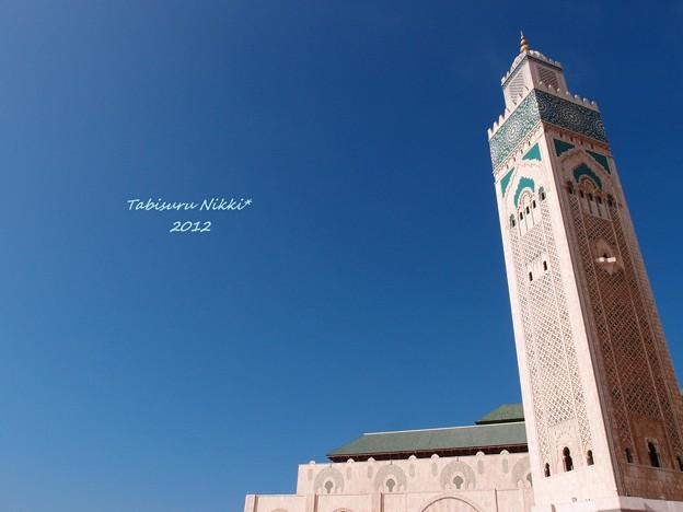 ハッサン2世モスクのミナレット