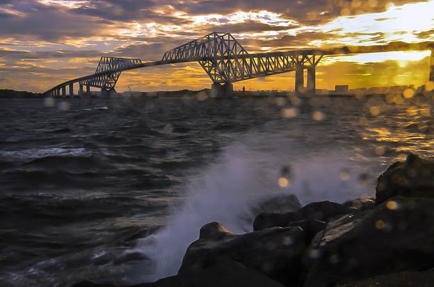 波高し恐竜橋