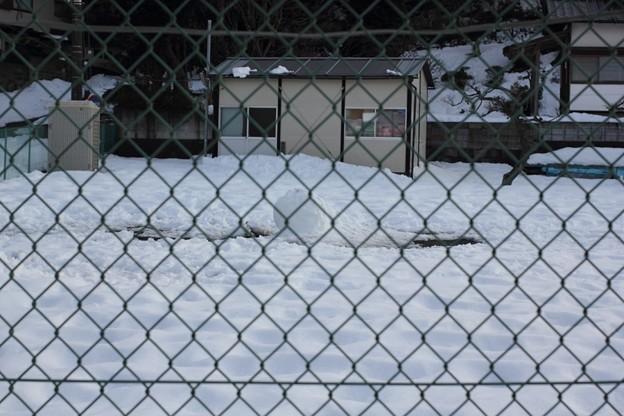 作りかけ(雪だるま)