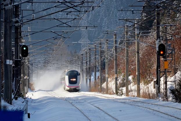 雪をとばす