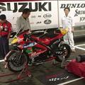 写真: 09_2005_atushi_watanabe_yoshimura_suzuki_jomo_with_srixon_racing_team