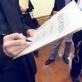 写真: サインをしてもらいました。
