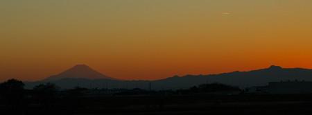 富士山から秩父連山を臨む