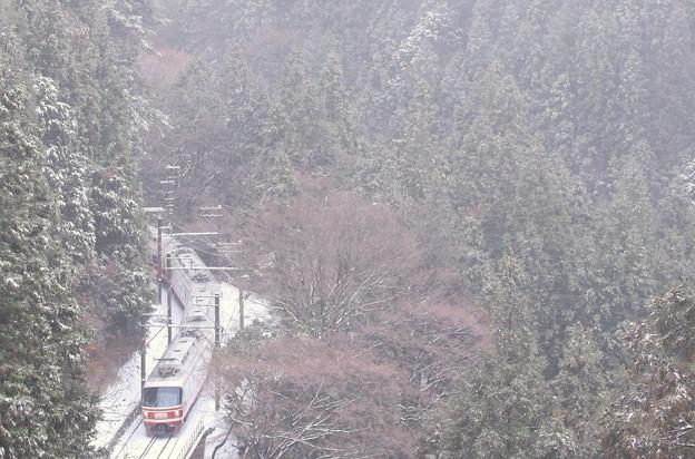 俯瞰・・雪