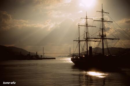 ある日長崎港