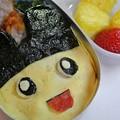 写真: たまごっちオムレツ弁当