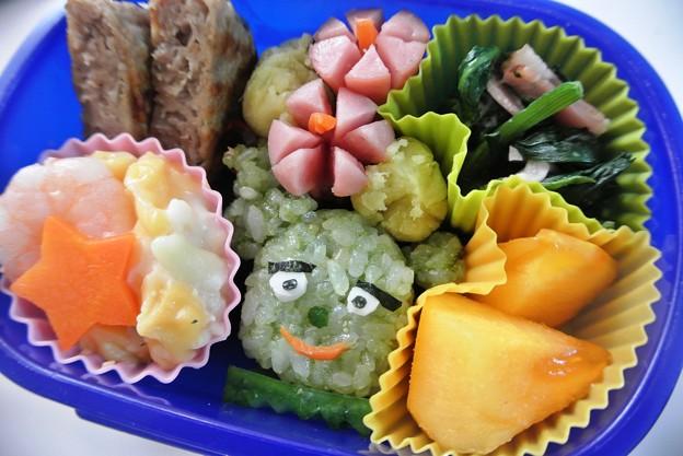 写真: 11月1日(金)「サボさんおにぎり弁当(NHK『みいつけた!』より)