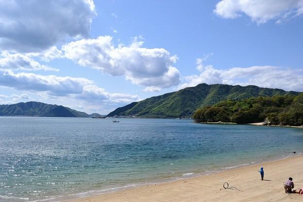 岩子島の海水浴場