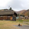 Photos: 茅葺屋根と紅葉とプチ大地メレ