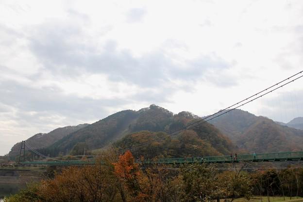 もみじ橋大吊橋と紅葉(2013/11/3)