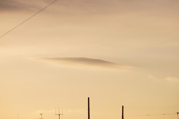 可愛いレンズ雲