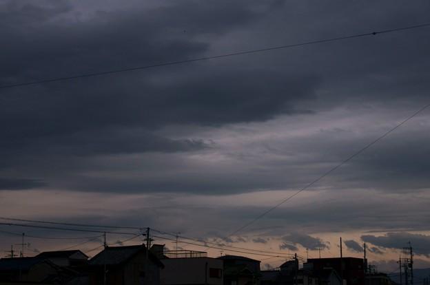 黒雲に覆われた日