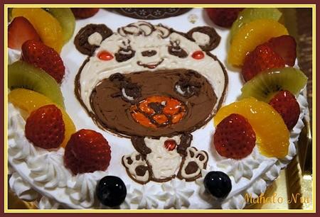 前回のグラグラのケーキ