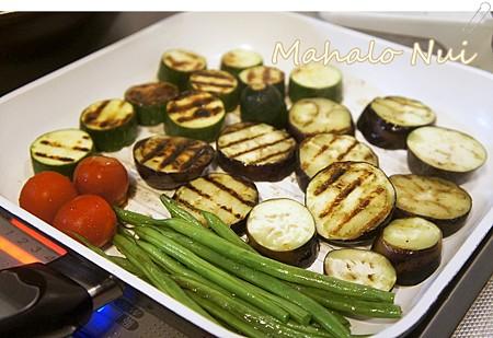 野菜を焼きます